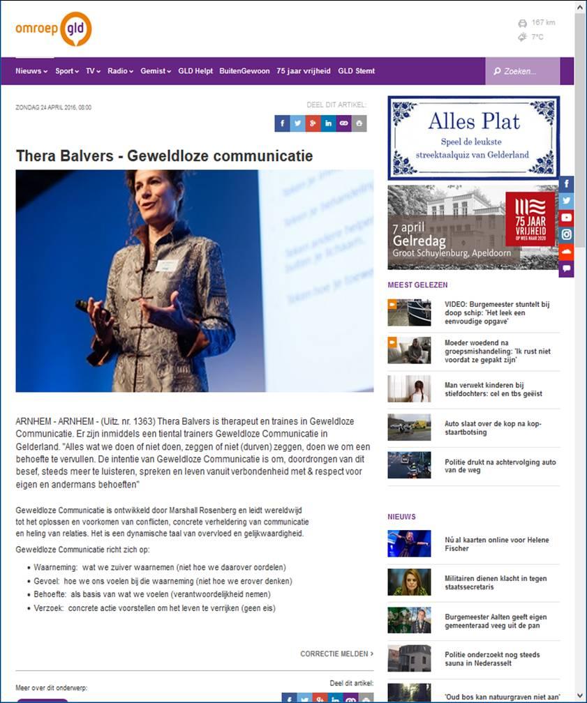 afbeelding van Thera bij Site omroep gelderland